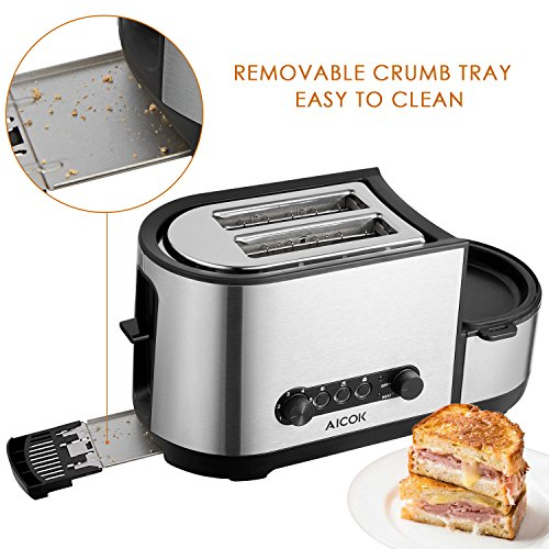 Aicok Toaster 3 in 1 - 4