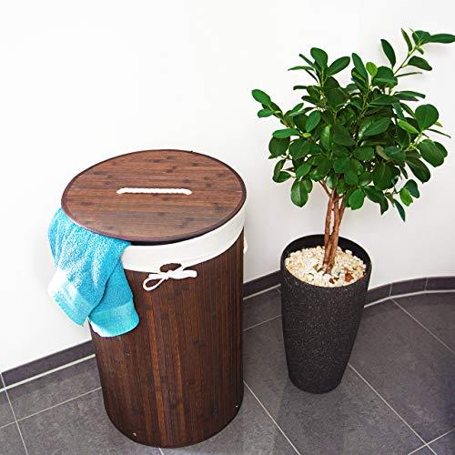 Relaxdays Wäschekorb 80 Liter rund - 2