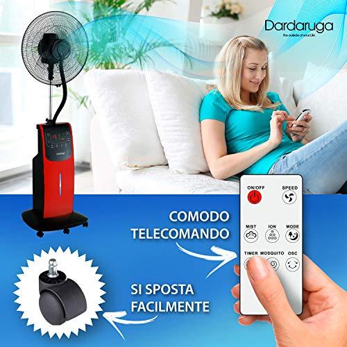 DARDARUGA Ventilator mit Zerstäuber - 10