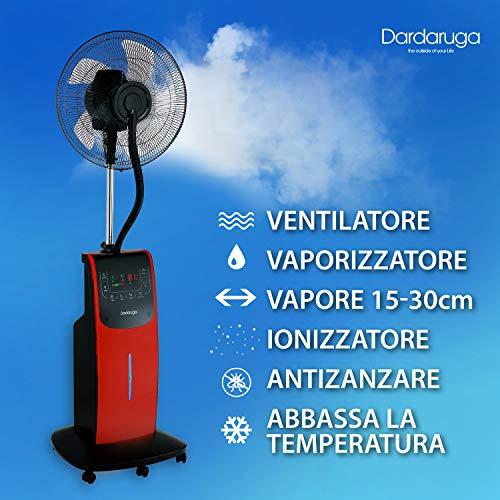 DARDARUGA Ventilator mit Zerstäuber - 4